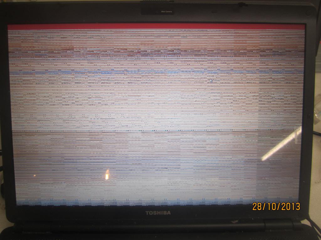 LCD ekrano gedimas